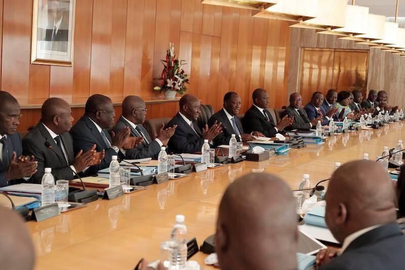 Le conseil des ministres, le premier de l'année 2020 présidé par le Président de la République, Alassane Ouattara (DR)