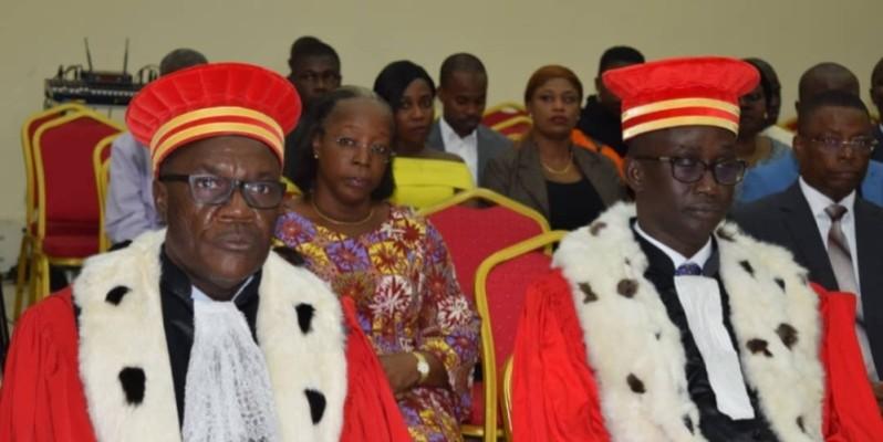 Les juges Sabiou Mamane Naissa du Niger (à gauche) et Mounetaga Diouf du Sénégal font désormais partie de l'équipe de la CCJA. (DR)