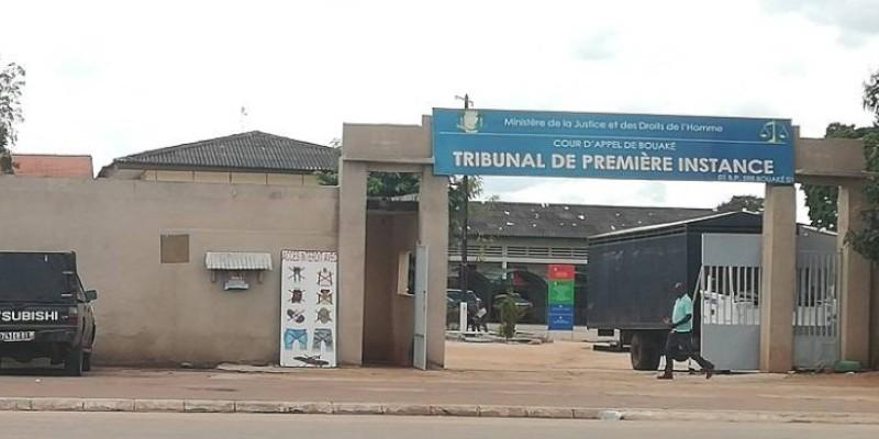 Le tribunal de première instance de Bouaké. (AIP)