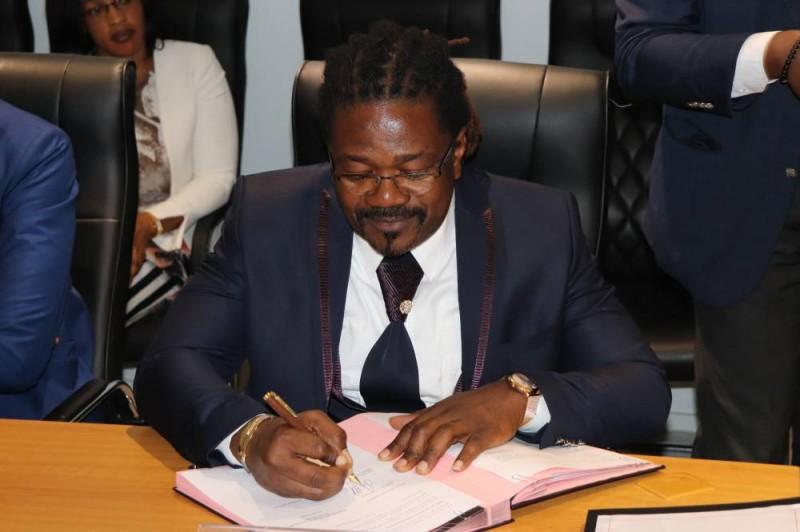 Le président du Conseil d'administration de Am'Clot Trading, Secongo Clotchor (DR)