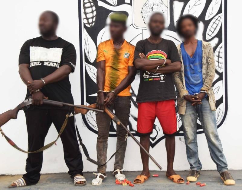 Après plusieurs forfaits, les quatre  bandits, sont désormais hors d'état de nuire, grâce à la gendarmerie de Biankouma. (DR)
