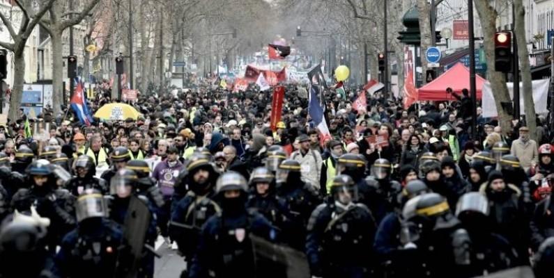 Manifestation contre la réforme des retraites le 11 janvier 2020 à Paris.(DR)