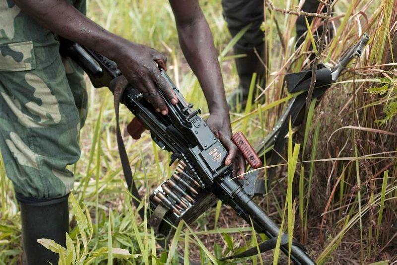 Des militaires armés combattant dans le nord Kivu. (DR)