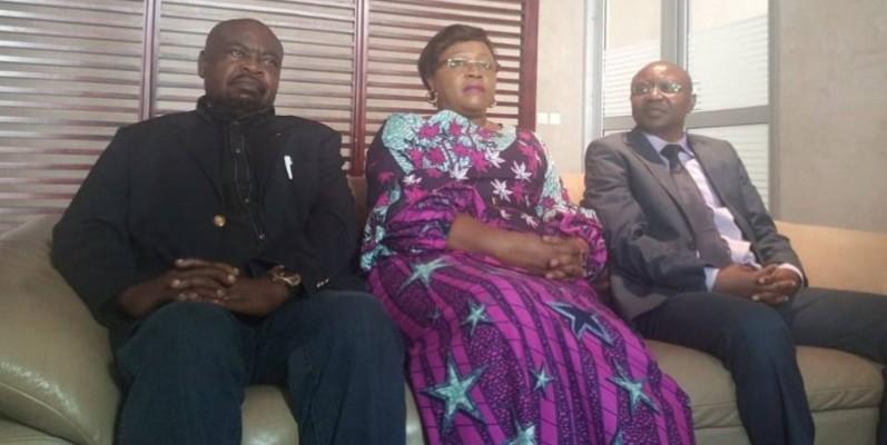 Les deux ministres Conseillers de la République Centrafricaine ont été accueillis à leur arrivée par l'ambassadrice Lydie Flaure Magba. (DR)
