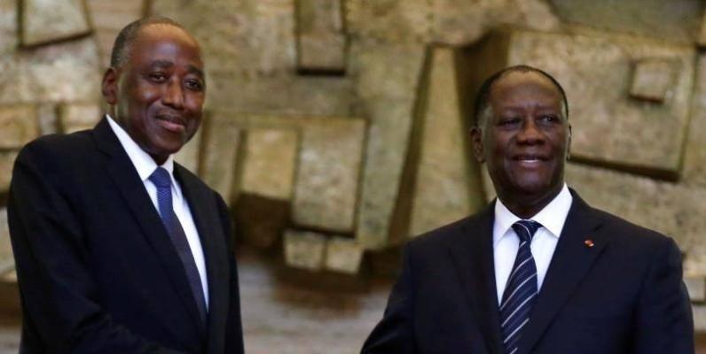 Alassane Ouattara et Amadou Gon Coulibaly