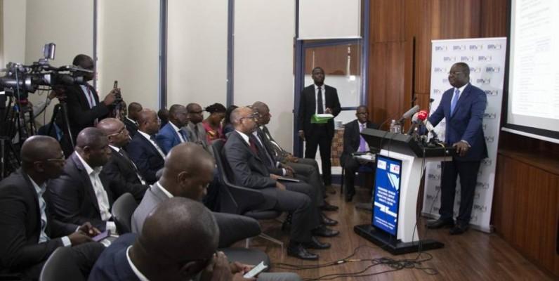 Edoh Kossi Amenounvé, directeur général de la Brvm, a présenté son bilan de l'année écoulée. (DR)