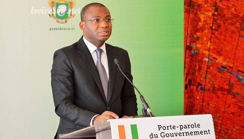 Le ministre Sidi Tiémoko Touré, le porte-parole du gouvernement. (Dr)