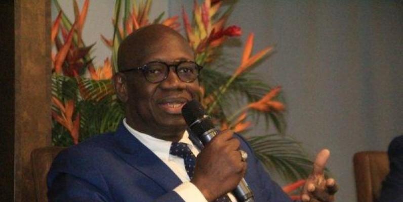 Le Directeur général, Dramane Coulibaly, face à la presse. (DR)