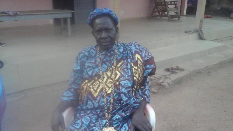 Le chef d'Agbossou, Nanan Kouadio Théophile, pilote l'organisation au niveau de la chefferie traditionnelle. (DR)