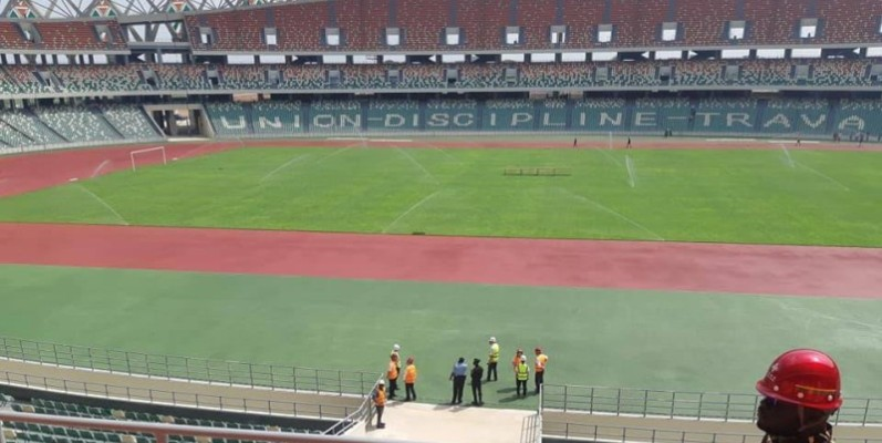 Le Stade olympique d'Ebimpé sera livré dans trois mois.(DR)