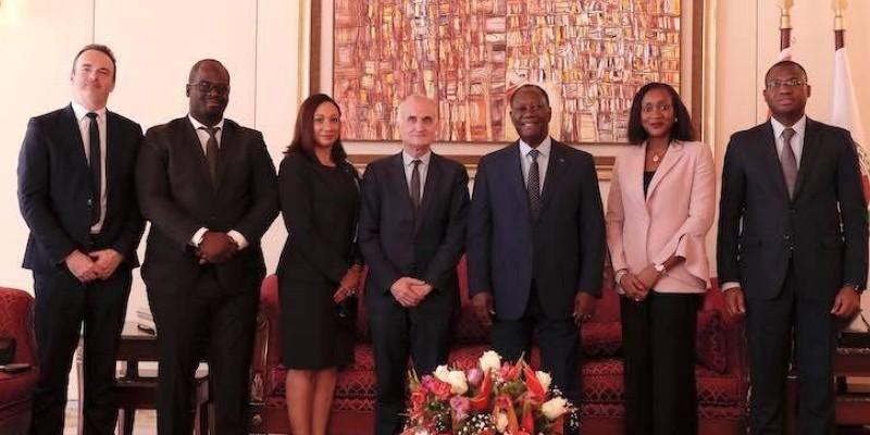Le président de Canal  International a été reçu ce jeudi par le Président Ouattara. (Dr)