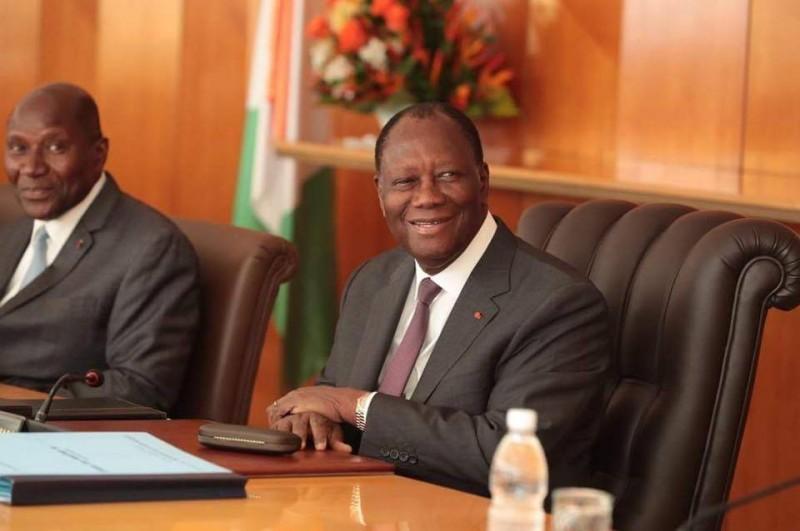 Le président de la République de Côte d'Ivoire, Alassane Ouattara et son Vic-président Daniel Kablan Duncan (DR)