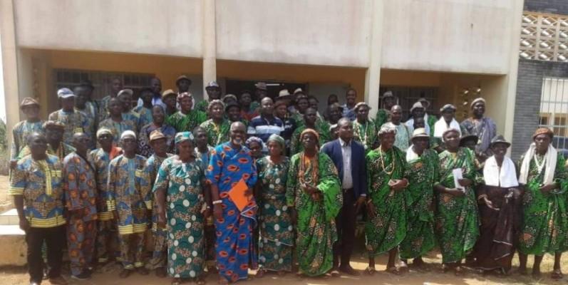 Les chefs traditionnels et coutumiers de la région du Gbôklè engagés à préserver la paix, la stabilité et la cohésion en Côte d'Ivoire. (DR)