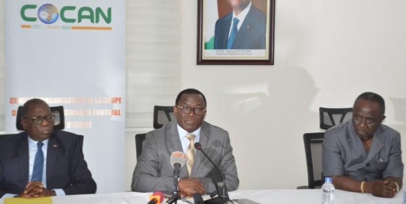 Danho Paulin (au centre) a réitéré sa confiance au Cocan dirigé par Feh Kesse. (DR)