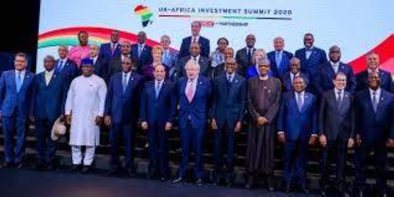 La photo de famille après le Sommet Royaume-Uni - Afrique. (DR)