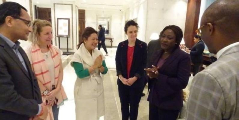 La ministre Mariatou Koné en plein échanges avec les représentants des États membres de la Better Than Cash Alliance. (DR)
