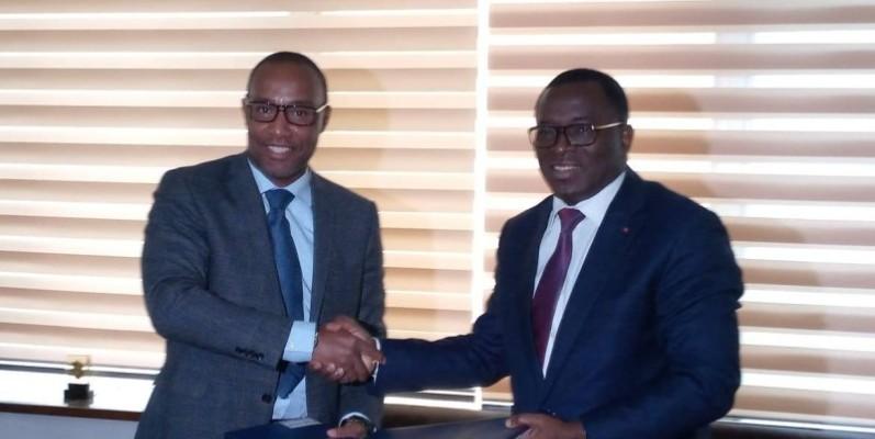 Le président Ouégnin (à gauche) et le ministre des Sports ont affiché leur volonté de faire de la Côte d'Ivoire un pays qui compte dans l'équitation mondiale.(DR)