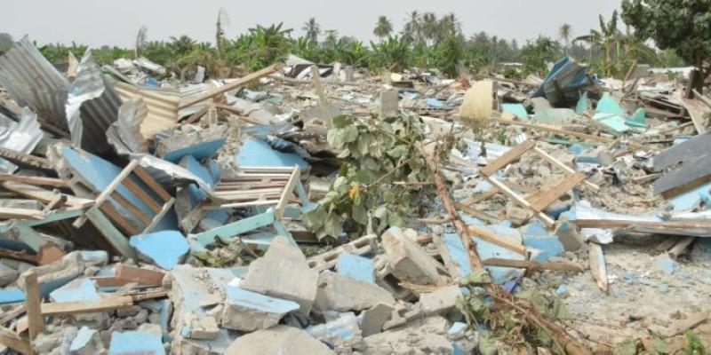 Les décombres du site entièrement rasé. (Julien Monsan)