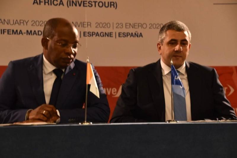 Le ministre Siandou Fofana a vendu la destination Côte d'Ivoire au forum de Madrid (DR)