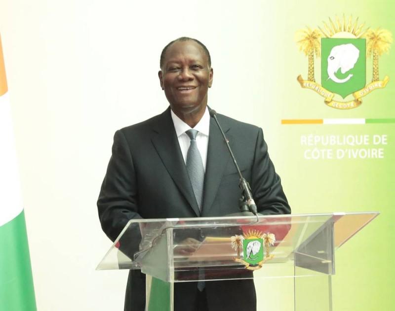 Le Président de la République, Alassane Ouattara à son arrivée à Abidjan (DR)