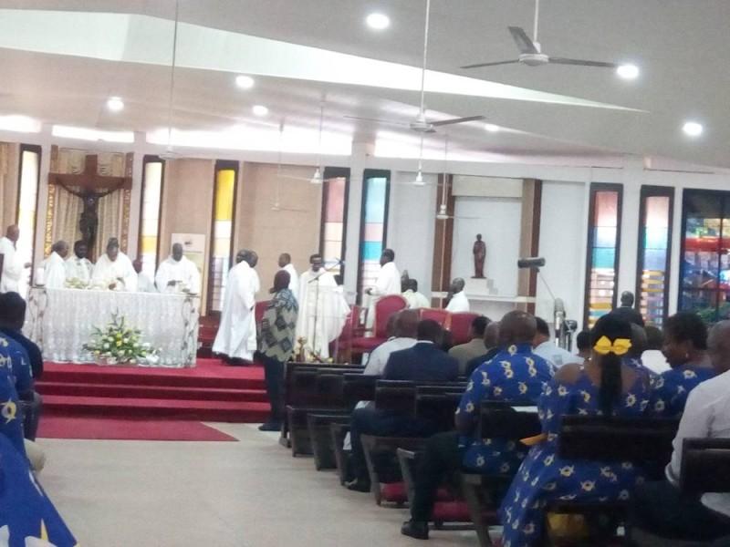 La messe d'action grâce pour les 25 ans d'existence du groupe Nsia. (Marie Ange Akpa)