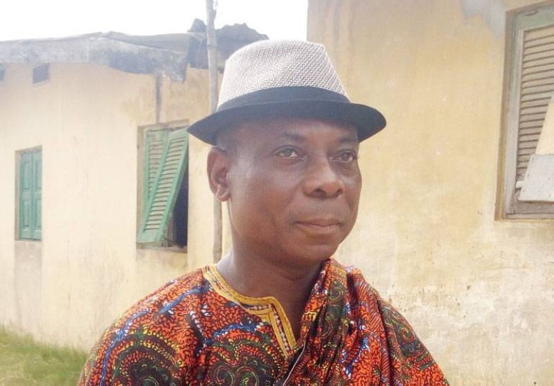 Amony Yapo Simon, nouveau chef du village d'Adjin dans la commune de Bingerville. (DR)