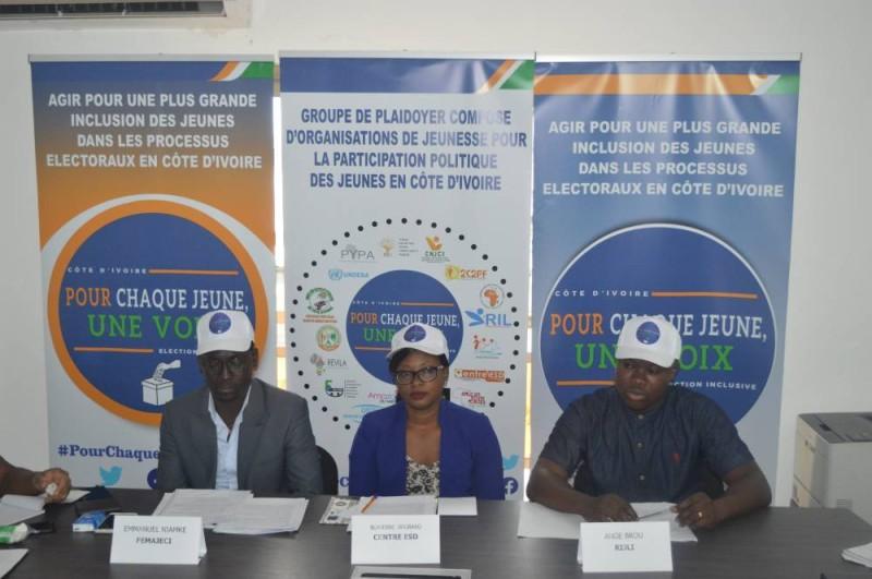 De la gauche vers la droite, Emmanuel Niamké, Blandine Angbako et Ange Brou (DR)
