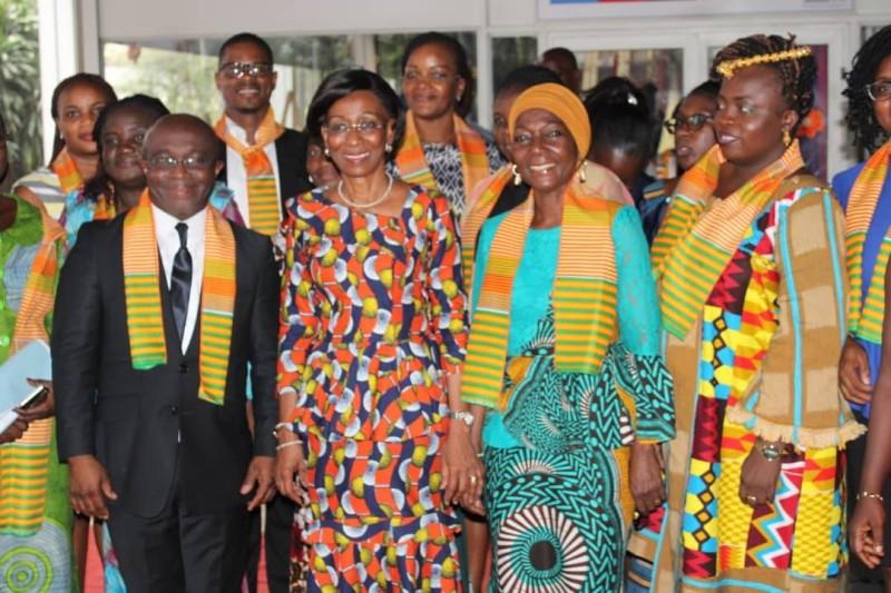 Communion totale entre la ministre Bakayoko Ly Ramata et ses collaborateurs. (DR)