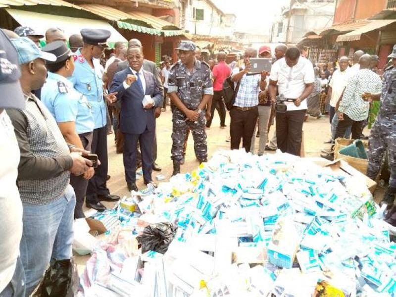 Le ministre Aka Aouélé ne veut plus laisser ce marché de la mort continuer à se développer impunément. (DR)