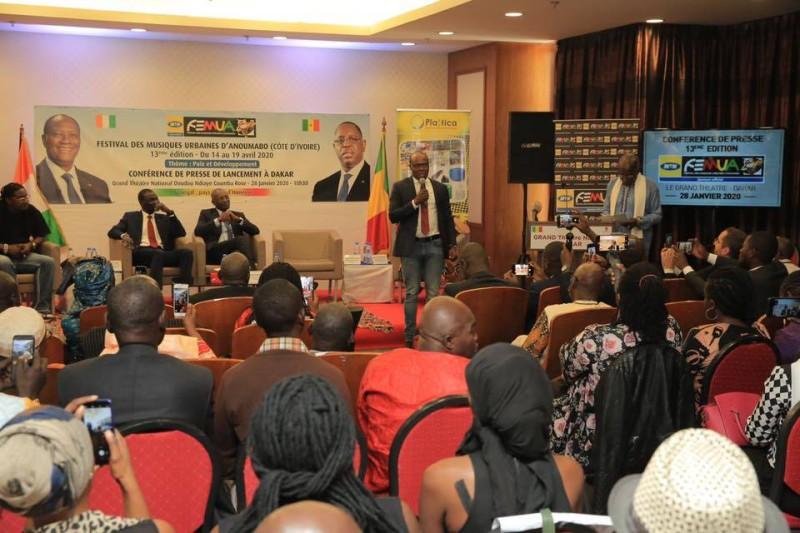 A'Salfo lors du lancement officiel du Femua 13 à Dakar (DR)