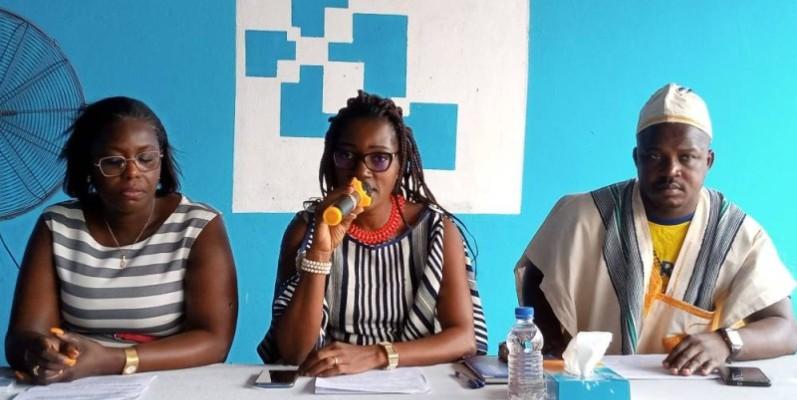 Honorine Gbohou, commissaire général (au centre), a dévoilé les grandes lignes du festival. (DR)