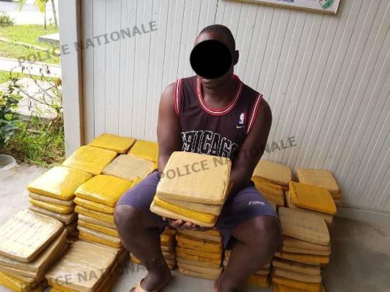 saisie de drogue à Abobo. (Dgpn)