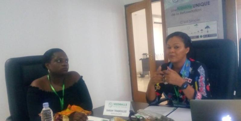 Sarah Traboulsi, directrice de Seedballs-Coote d'Ivoire (droite). (DR)