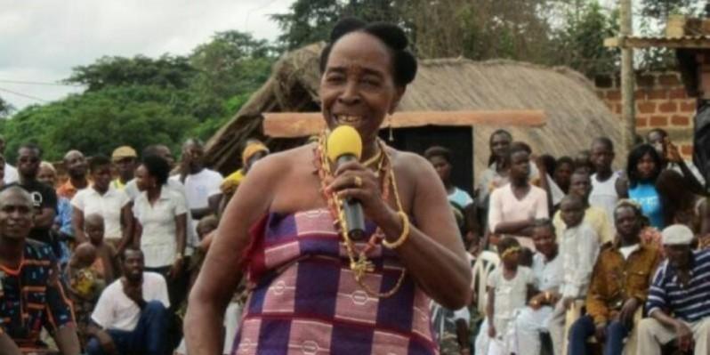 Allah Thérèse, la déesse de la musique tradi-moderne baoulé, est décédée le 19 janvier 2020. (DR)