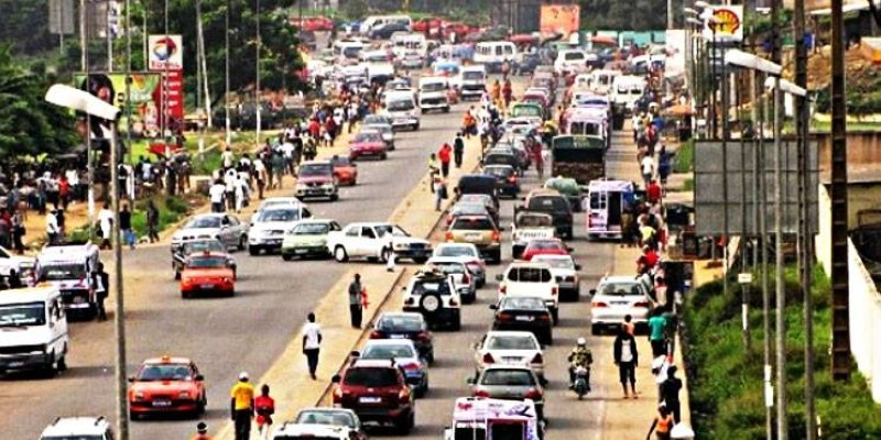 Une circulation dense à Abidjan. (DR)