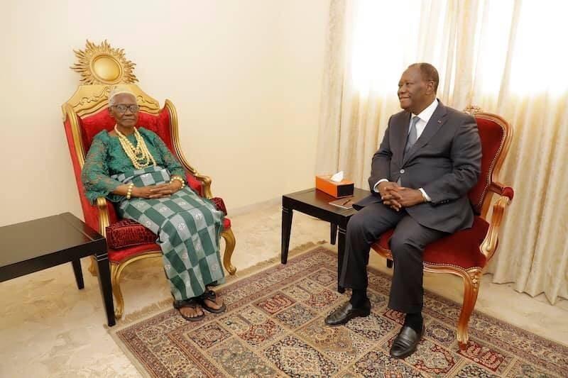 Le Président Ouattara et la Reine des baoulés (Présidenceci)