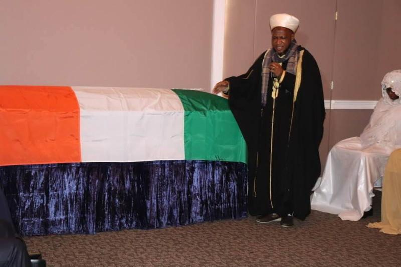 Les Ivoiriens aux USA ont rendu un dernier hommage au colonel Major Issiaka Ouattara organisée à l'Islamic International Funeral dans le quartier de Brooklyn