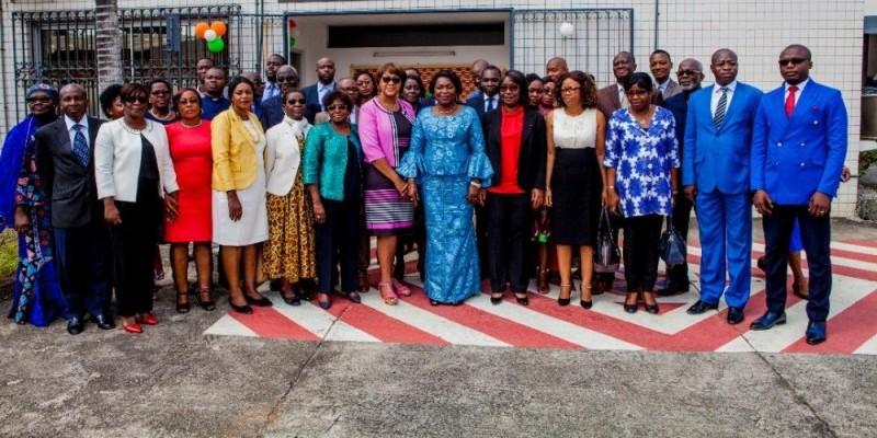 Les membres du secrétariat d'État chargé des Droits de l'homme lors de leur rentrée solennelle.(DR)