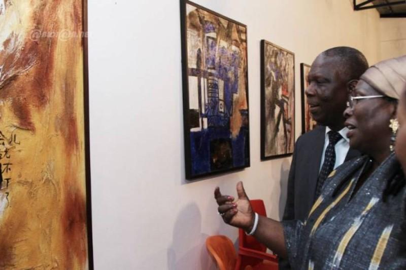 Mathilde Moreau, actuelle directrice de l'Ecole nationale des Beaux-arts d'Abidjan, appelé la prêtresse Vohou (DR)