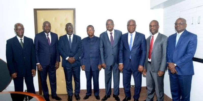 Joseph Séka Séka et ses hôtes ont marqué leur engagement à faire des Jfac de Yamoussoukro un succès.(DR)