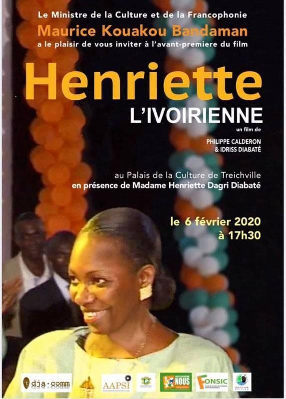 """L'affiche de présentation du film-documentaire """"Henriette, l'Ivoirienne. (DR)"""