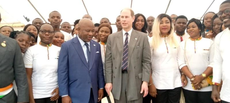 Le vice-Président de la République a échangé avec le Prince britannique.  (Photo : Poro Dagnogo)