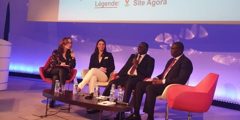 Les ministres Félix Anoblé et Paulin Danho (du côté droit) ont représenté la Côte d'Ivoire aux Riges 2020, en France.(DR)