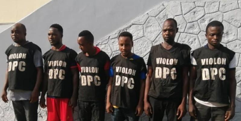 Les supposés assassins du policier ont été présentés à la presse par la Direction de la police criminelle. (Dr)