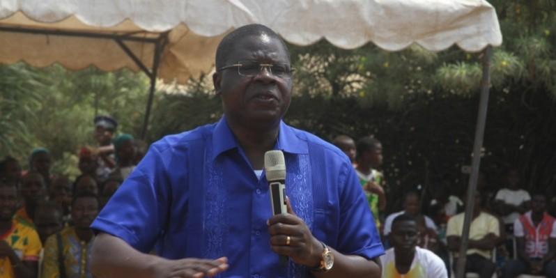 Le ministre Amedé Koffi Kouakou à Moh. (Véronique Dadié)