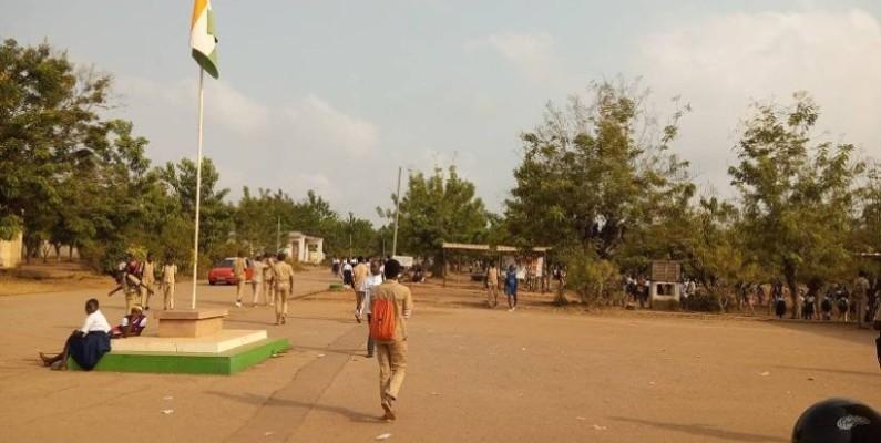 Les cours suspendus au lycée moderne de Dimbokro. (DR)