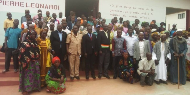 Le député Sako Mamadou a sensibilisé les populations au conflit éleveurs-agriculteurs. (DR)