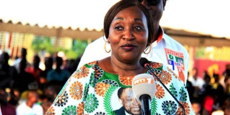 La ministre Raymonde Goudou-Coffie, coordonnatrice du Rassemblement des houphouétistes pour la démocratie et la paix ( Rhdp) pour la région du Bélier. (DR)