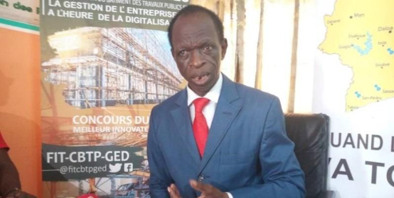 Soro Doté, président de la Confédération des Pme/Pmi du Bâtiment et des travaux publics (Btp) de Côte d'Ivoire. (DR)