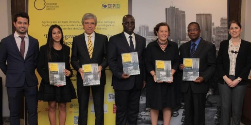 A la célébration de ses 5 ans de recherche économique en Côte d'Ivoire, le cabinet Oxford business group (Obg), a publié une enquête sur la situation économique du pays. (Dr)
